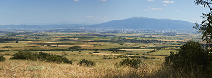 Sofia valley and Vitosha mountain, Bulgaria Royalty Free Stock Photos