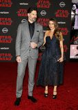 Sofia Vergara and Joe Manganiello. At the World premiere of `Star Wars: The Last Jedi` held at the Shrine Auditorium in Los Angeles, USA on December 9, 2017 Royalty Free Stock Photo