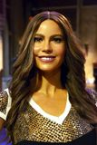 Sofia Vergara in Madame Tussauds of New York stock image