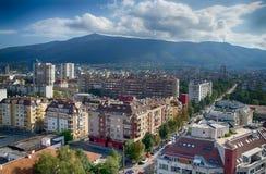 Sofia, widok Vitosha góra obraz stock