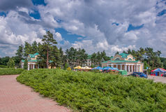 Sofievka. View of the entrance. Dendrological Park Sofievka. View of the entrance Stock Images