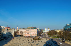 Sofievskaya Sofia square located in central Kiev Royalty Free Stock Images