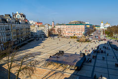 Sofievskaya Sofia square located in central Kiev. Space is so called because of St. Sophia Cathedral was built here in 1037. Royalty Free Stock Image
