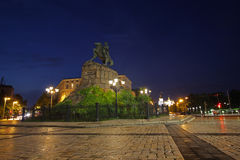 Sofievskaya Square at night illumination. Kiev. Ukraine Stock Photo
