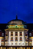 Sofitel Grand Sopot. Night view of the 5 stars Sofitel Grand Sopot, on July 09, 2013 in Sopot, Poland. Stylish hotel, built in 1927 in Art Noveau and neo-baroque Stock Photo