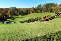 Sofiyivsky Park lawn in Ukraine stock image