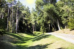 Sofiyivskypark in Uman, de Oekraïne Mooi landschap royalty-vrije stock foto's