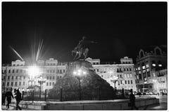 Sofiyskaya square Kiev, Ukraine. A monument to Bogdan Khmelnitsky Royalty Free Stock Images