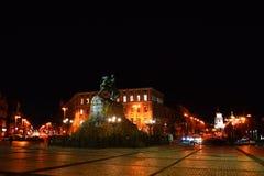 Sofiyskaya square Kiev, Ukraine. A monument to Bogdan Khmelnitsky Royalty Free Stock Photography