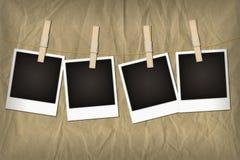 Sofortige Fotos auf Zeile Stockfotos