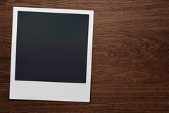 Sofortige Kamera-Bild-Holz Lizenzfreies Stockbild