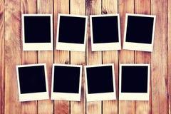 Sofortige leere polaroidfotos Stockbild