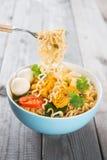 Sofortige Nudeln des frischen heißen würzigen Currys Lizenzfreie Stockfotos