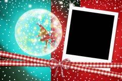 Sofortiger Fotorahmen Weihnachts-Sankt Stockbild