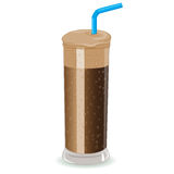 Sofortiger gefrorener Kaffee Frappe lizenzfreie abbildung