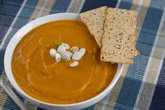 Sofortiger Topf Butternut Ginger Soup Stockfoto