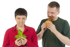 Sofrimento da dieta Imagens de Stock