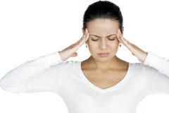 Sofrimento da jovem mulher da dor Fotos de Stock Royalty Free