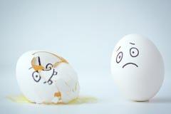 Sofrimento do ovo imagem de stock