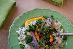 Sofrito del arroz de la coliflor Fotografía de archivo