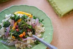 Sofrito del arroz de la coliflor Fotos de archivo libres de regalías