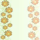 Soft abstract background in pastel colors with floral motif in pastel colors Stock Images