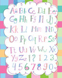 Soft Alphabet Set Royalty Free Stock Image