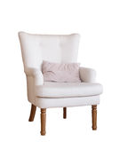 Soft armchair isolated on white Stock Photo