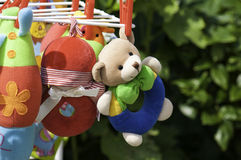 Soft Baby Toys. Hanging to dry Stock Photos