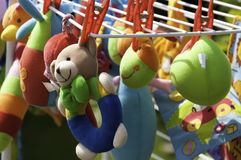 Soft Baby Toys. Hanging to dry Stock Photography