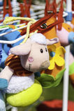 Soft Baby Toys. Hanging to dry Royalty Free Stock Photos