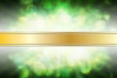 Soft Background with Shamrock. Soft green background with shamrock leaves and rays vector illustration