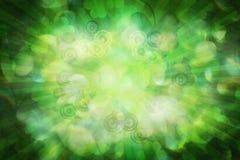 Soft Background with Shamrock. Soft green background with shamrock leaves and rays Stock Images