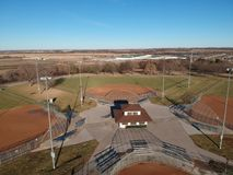 View of Softball from above royalty free stock image