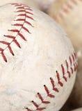 Soft ball up close. A softball up close on white Stock Image