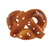Soft Bavarian pretzels. Vector objects Stock Photography