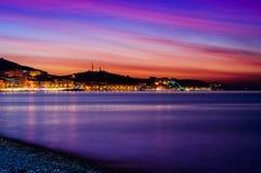 Soft And Beautiful Island Sunset Royalty Free Stock Photography