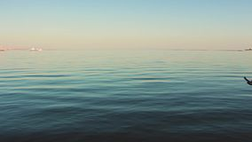 Soft beautiful water waves reflecting the rays of the sun stock video footage