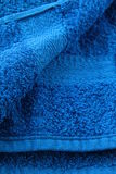 Soft  beauty blue  towel Royalty Free Stock Photography