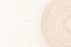 Soft beige white wooden background with abstract circles. Royalty Free Stock Image