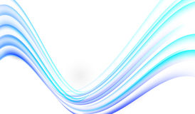 Soft big blue abstract wave on white background. Royalty Free Stock Photos