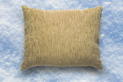 Soft blank beige pillow Royalty Free Stock Photography