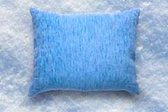 Soft blank blue pillow Royalty Free Stock Images