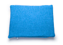 Soft blank blue pillow Royalty Free Stock Photo