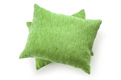Soft blank green pillows Stock Images