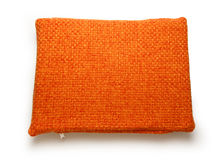 Soft blank orange pillow Stock Photography