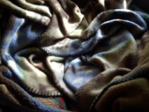 Soft Blanket. A soft crumpled blanket Royalty Free Stock Photo