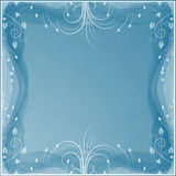 Soft blue background with floral elements Royalty Free Stock Photos