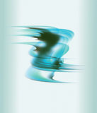 Soft blue and brown wavy lines as abstract background Stock Photos