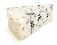 Soft blue cheese with mold isolated on white Stock Image
